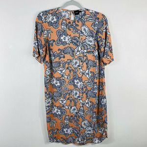 Asos Peach Floral Mini Dress